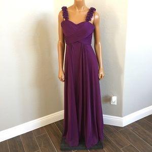 Cinderella maid of honor maxi ruffle dress